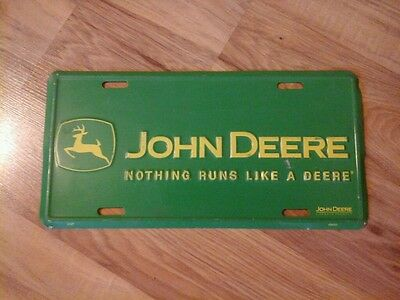 John Deere Green & Yellow Embossed License Plate (2187)      L@@K