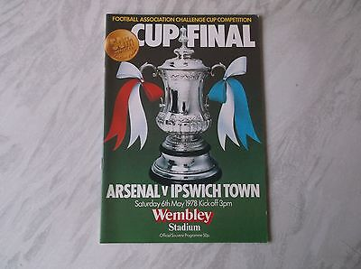 Arsenal Vs. Ipswich Town. F.a. Cup Final 1978. Excellent Condition Programme.