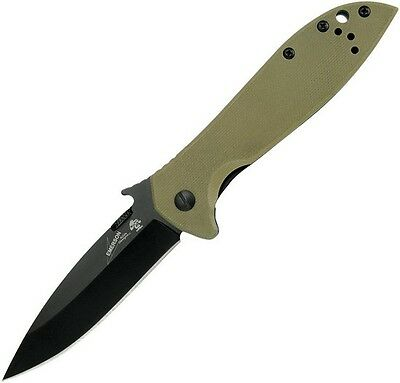 "Kershaw 6054BRNBLKX Emerson CQC-4K Framelock 4"" Folding Knife"