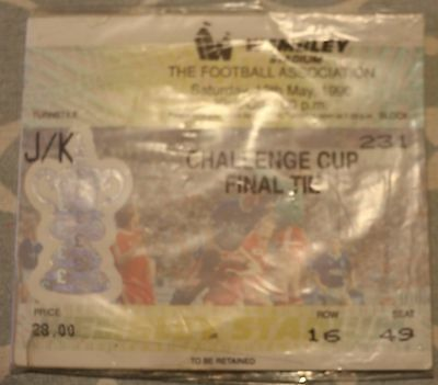 1900 FA Cup Final Ticket Stub Man Utd - Crystal Palace. 12/05/90. Mint Condition