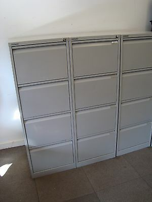 Office metal filing cabinet. 4 drawers. Bisley with keys