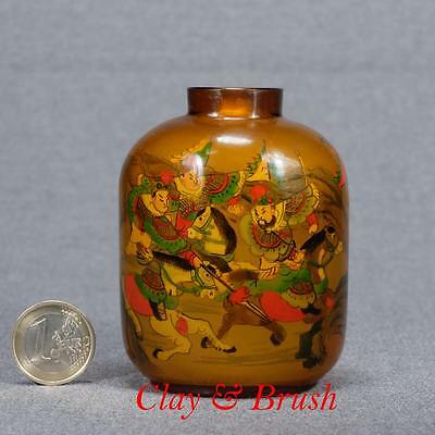 Chinese antique snuff bottle inside painted and signed Yong Shou Tian 永寿田