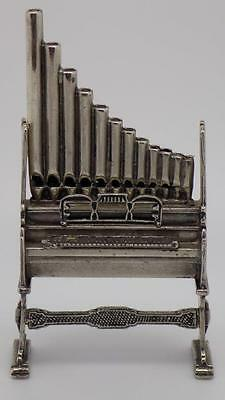 121g! Vintage Solid Sterling Silver 925 Organ Instrument Miniature - Stamped