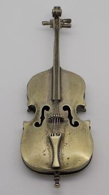 70g! Vintage Solid Silver STUNNING Big Cello Miniature - Stamped - Italian Made
