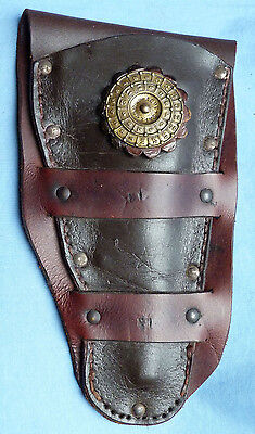 Very Unusual Vintage Acme Safe Company Leather Pistol Holster - Security Guard?