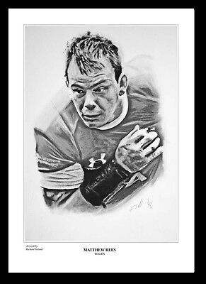 MATTHEW REES: WALES RUGBY -  FINE ART PRINT Signed by Artist