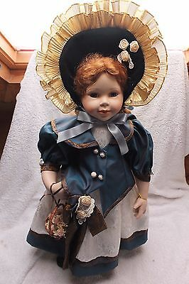 Knightsbridge Boxed Collectors Porcelain Doll - Theresa 23 Inches Tall