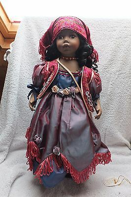 Knightsbridge Boxed Collectors Porcelain Doll - Adla 21 Inches Tall