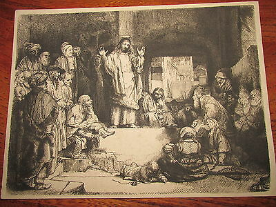 Christ Preaching (La petite Tombe), c. 1652, etching, engraving, and drypoint