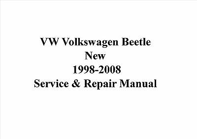 VW Volkswagen New Beetle 1998-2008 Service & Repair Manual