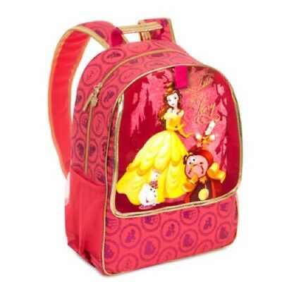 Disney Store Beauty And The Beast Belle School Bag Backpack Bnwt Chip Cogsworth