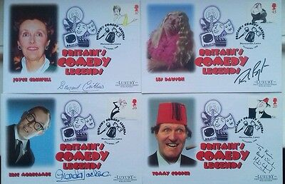4 Comedy Legends Covers All Signed Now Reduced.