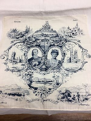 1910 to 1935 Kings jubilee handkerchief Canada India Africa Australia. Unused.