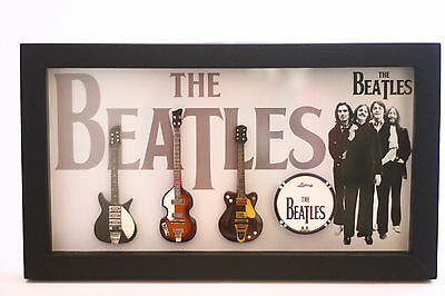 RGM823 The Beatles Miniature Guitars in Shadowbox Frame