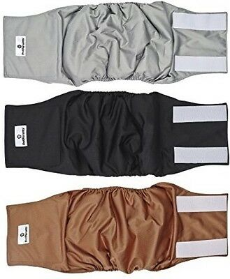 Washable Dog Belly Bands 3 Pack Of Medium Durable Male Dog Wraps