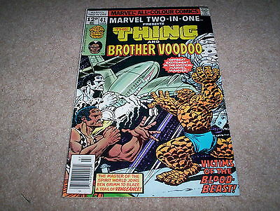 Marvel Two-in-One Monthly Comic Issue 41 The Thing & Brother Voodoo July 1978