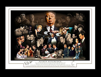 Alfred Hitchcock Classic Movies Montage Print