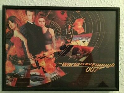 The World is Not Enough Replica Poster Framed James Bond 007