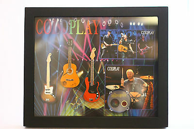 RGM8832 Coldplay Miniature Guitars in Shadowbox Frame