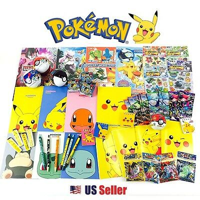 [GIFT WRAP] Pokemon Assorted Toy Sticker Card School Supply Stationary Gift Set