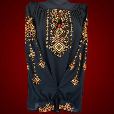 Ukrainian embroidery, embroidered blouse, chiffon, XS - 4XL, Ukraine