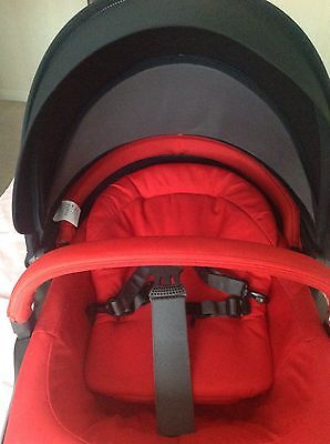 Stokke Seat Unit With Red&navy Textiles Will Fit Variouse Stokke Prams.x Display