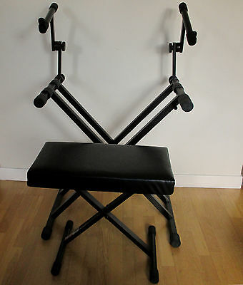 On Stage Stands 2-tier keyboard stand and bench