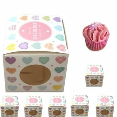 6 pack of Cupcake muffin boxes - Fairy Cup Cake Boxes 6 Pack choice of 3 designs