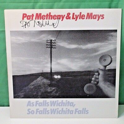 Pat Metheny, As Falls Wichita, autographed album, personally signed