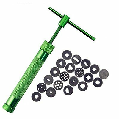 Clay Extruder Polymer Clay Extruder Gun With 20 Discs Green