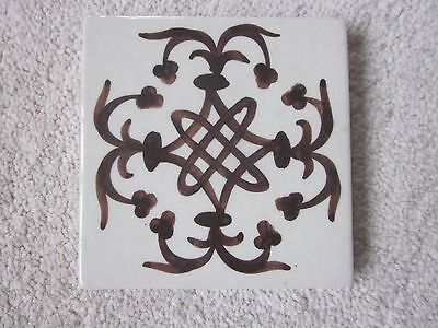 Vintage Hand Painted Tile