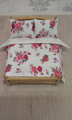 Miniature 1/12th scale dolls house Bedding set. ( BED NOT INCLUDED ).