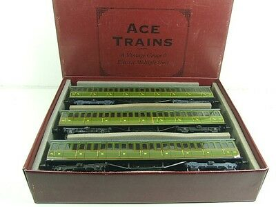 Ace Trains O Gauge C1 French P.O Livery Passenger x3 Coach Ltd Number Set *TSM*