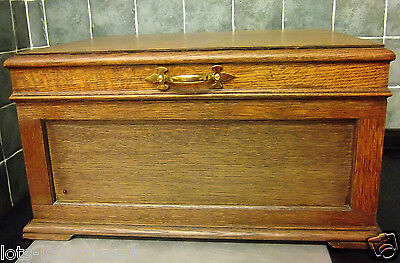1930 His Masters Voice Original Oak Case Gramophone Upgraded Deck Record Player