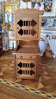 Dollhouse Miniature Artisan Signed Southwestern Cupboard Hand Crafted 1:12