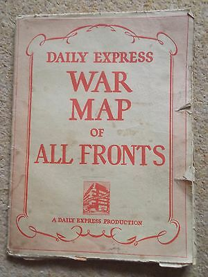 Daily Express War Map All Fronts - WW2 (108)