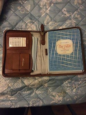 Vintage Brown Leather Writing Case With Contents