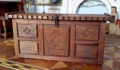 Dollhouse Miniature Artisan Signed Southwestern Chest Hand Crafted 1:12
