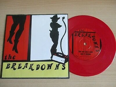 """The Breakdowns Red Vinyl 7"""" (Ps) – This Gun Don't Care Who It Shoots - Krs 359"""
