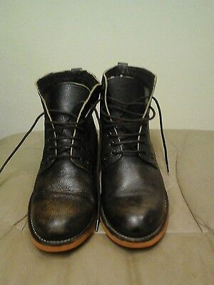 Gents, SUPERDRY Leather Ankle Boot.  Size Uk 9. Euro 43.