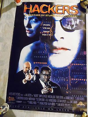 Hackers 27 x 40 Theatrical Movie Poster Angelina Jolie