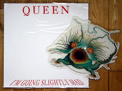 As New! Mint! Ex/ex! Queen I'm Going Slightly Mad Shaped Picture Pic Disc
