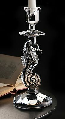 Waterford Crystal Prestige Collection Seahorse Candlestick Brand new