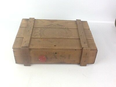 Vintage Masi Valpolicella Verona Empty Wood Wine Box With 2 Hinges Made In Italy