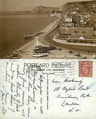 s09930 Sidmouth, Devon, England RP postcard posted 1951 stamp