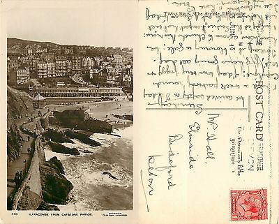 s09935 From Capstone, Ilfracombe, Devon, England RP postcard posted 1929 stamp