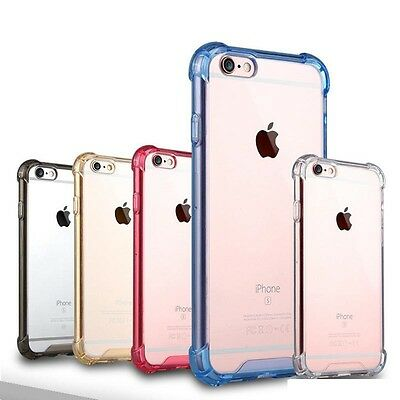 lot 5 samsung iPhone x 5s 6S 7 8 Plus acrylic Shockproof Clear Protection Case