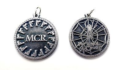 MCR My Chemical Romance M.C.R. Pendant Necklace doble sided Pewter Silver HQ NEW