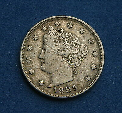 United States 5 Cents 1889 Liberty Nickel