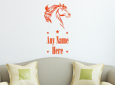 Personalised Horse Any Name Wall Sticker Mural Home Decal Room Vinyl Art Decor